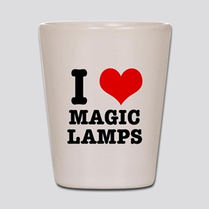 I Heart (Love) Magic Lamps Shot Glass
